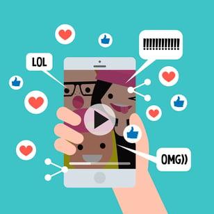 Actividad de los Millennials en redes sociales