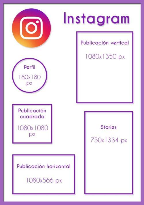 Medidas para Instagram