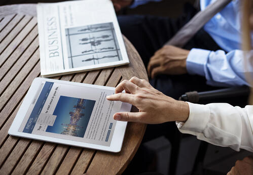 Noticias en una tablet