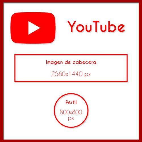 Medidas para YouTube