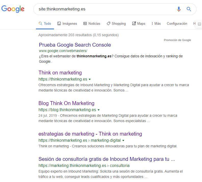 site-thinkonmarketing-es investigar dominio